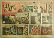 Kerry Drake Sunday By Alfred Andriola From 12/12/1943 Half Page Size Year 1