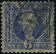 126 Used 6 Cent Pictorial Re-issue With Psag Certificate Cat. 3250.00