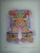 Mexican/italian Pedro Friedeberg Hand Colored Lithograph