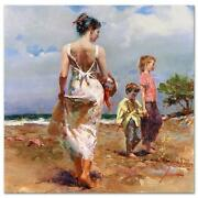 Pino Mediterranean Breeze At The Beach Sold Out Giclee Canvas Hand Signed/coa