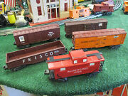 Lionel Post War 5 Freight Car Lot Custom Painted Years Ago Vg Cond For Youngster