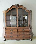 China Cabinet 1800's Curio Delivery Available 8'-3 Bombay Antique Dutch