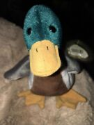 Ty Rare Jake The Duck Beanie Baby Retired Mint Condition Tag Errors 1997/1998