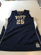 Game Worn Used Pittsburgh Panthers Pitt Basketball Jersey 25 Size 56 Miller