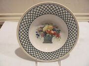Rare Villeroy And Boch Basket 9 1/4 Cereal/ Soup Bowl Flat Edge Anno 1748 Germany