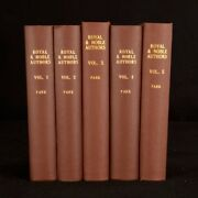 1806 5vols Horatio Walpole A Catalogue Of The Royal And Noble Authors