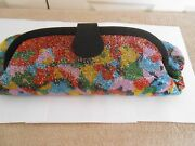 Vintage Fendi--made In Italy-- Beaded Clutch/shoulder Bag-16 1/2 X 12 X 1 1/4