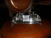 American Sterling Silver Double Inkwell On Stand 1900