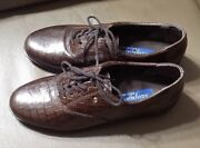 Easy Spirit Anti-gravity Jpmotion Brown Leather Loafer Lace Up Shoes 7,5 B