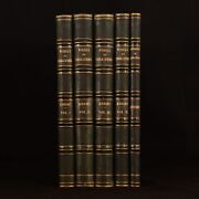 1873-1876 5vol The Works Of Shakespeare Biography Charles Knight Uniform Binding