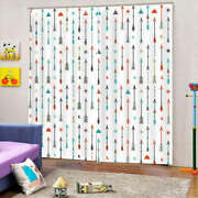 Colorful Arrow Shower 3d Curtain Blockout Photo Printing Curtains Drape Fabric