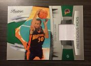 2009 Panini Prestige Stephen Curry Rookie Card 15 Of 100 Event Worn Swatch