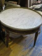 Magnificent Rare 1920s Art Deco Jansen Style Round Marble Table With Drawer