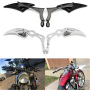Motorcycle 8/10mm Mirrors 4 Style For Harley Sportster 48 883 1200 Forty-eight P