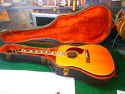 1970and039s Harptone Z-6n Zodiac Guitar Spruce Top Rosewood Back And Sides Beatles Ohsc