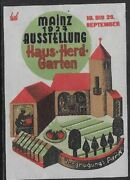 Germany Poster Stamp 1927 House-hearth-garden Exhibition, Mainz - Cw60.8