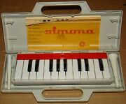 Old Vintage Gdr German Musical Wind Instrument Children's Toy Piano Harmonica Ra