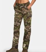 Under Armour Mid Season Wool Hunting Pants Camo Forest 1297843-943 Size 8 And 10