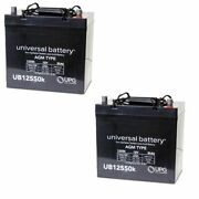 2 Pack Upg Ub12550 12v 55ah Battery For Quickie V100 P110 P190 Wheelchairs