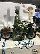 Tin Wind Up 2002 Harley Davidson Military Motorcycle Franklin Mint