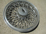 70and039s Oldsmobile Wire Wheel Hub Cap Good Condition One Only Plus 3 Rocket Inserts