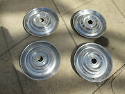 1954 Cadillac Hub Caps Set Of Four Hard To Find Rare Original Missing Medallions