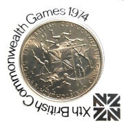 1974 New Zealand British Commonwealth Game Commemorative Coin+free 1coind5881