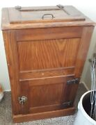 Antique Solid Oak Ice Box