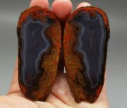 A Pair Roughunpolished Agate/achat Nodule Specimen Xuanhua Hebei China Xh-088