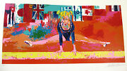 Leroy Neiman S/n Olympic Gymnast Olympics Hand Signed Serigraph