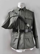 Wwii German Army Officer Leather Cross Shoulder Strap W Belt With Buckle Size Xl