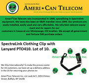 Spectralink Pto410 Clothing Clip With Lanyard Lot Of 10