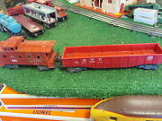 Lionel Post War 6257 Caboose And 6462 Red Gondola Good Cond Orig 1950s