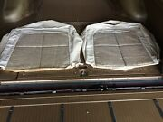 1963 Lincoln Continental Beige Silver Cloud Front Seat Upper Set - Nos