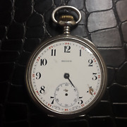 Antique Slim High Quality Silver Zenith Pocket Watch For Restore / Parts