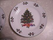 Salad/bread Plates In The Noel Morning Pattern By Gibson Designs-set Of 4 Euc