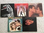 """5 Collectable Oldies Records 33 1/3 Rpm 12"""" Various Artists Original Soundtrack"""
