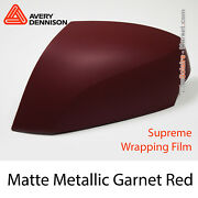 Matte Metallic Garnet Red Avery Dennison Supreme Wrapping Film Cover As9020001