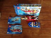 Lego City 60005 Fire Boat Retired Complete
