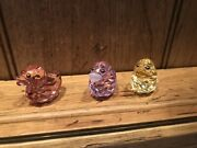 Rare Retired Happy Duck Set - Lovely Lucy Sunny Sandy And Rosy Ruby