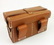 Wwii Japanese Army Leather Ammo Pouch Japan Waist Field Pouch Cartridge Bag