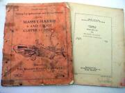 2 Massey Harris 6 And 7 Foot Combine And 88 Plow Manuals