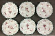 Set Of 6 - 1890 Victoria Carlsbad Austria Deep 6-well Porcelain Oyster Plates