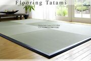Japanese Assemble Tatami With Frame 82cm Square 12 Mats For Wooden Floor.