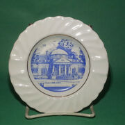 Cigar Ashtray Round Porcelain By Conrad Crafters Theme Wheeling W. Virginia 5.25