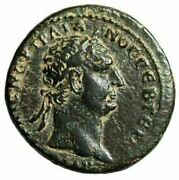 Trajan Ae As 98-99 Ad Legends In Wreath Rome Mint For Levant Circulation Gvf