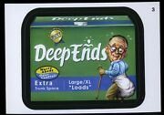 2013 Topps Wacky Packages Series 11 Black Ludlow Back 3 Deep Ends