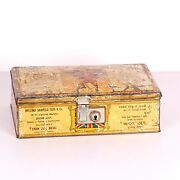 Antique Collectible Vintage Old Tin Litho Iron Metal Cans Box Containers 2259-35