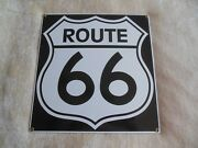 Route 66 Ande Rooney Porcelain Advertising Sign 11.25 X 12