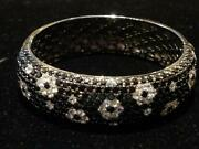 Last Days 50off5750 Sapphire Floral Bangle Bracelet 26ct Roberto Coin Pattern